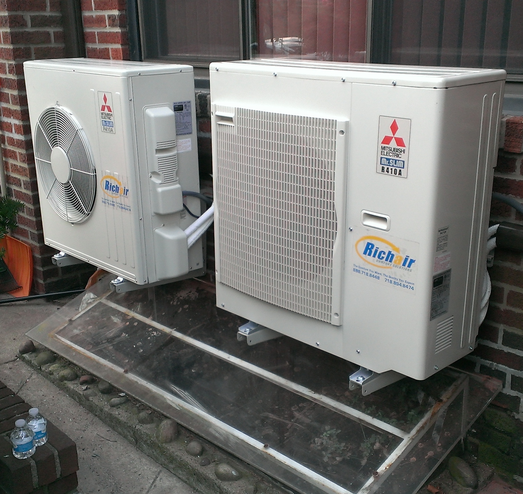 Two mini split condensers in Forest Hills, NY